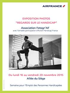athlete pour expo photo Air France